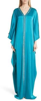 St. John Liquid Crepe Kaftan Gown