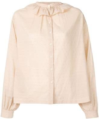 Masscob ruffle collar shirt