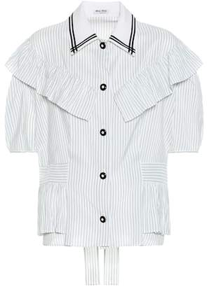 Miu Miu Striped silk shirt