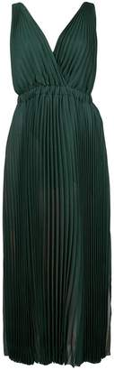 Fendi two tone pleated dress
