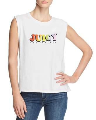 Juicy Couture Black Label Tie-Back Logo Graphic Tee