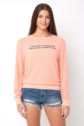 Wildfox Couture Rose Glasses Sweatshirt