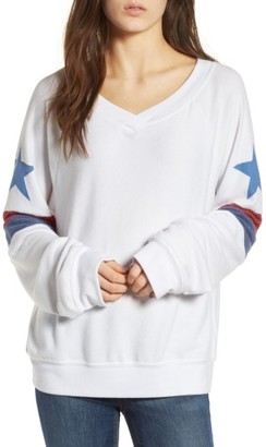 Women's Wildfox Stars & Stripes Sweatshirt $108 thestylecure.com