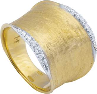 Marco Bicego Lunaria Gold Diamond Pave Ring