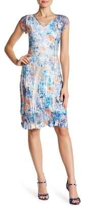 Komarov Cap Sleeve V-Neck Dress