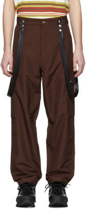 Enfants Riches Deprimes Brown Suspender Cargo Pants