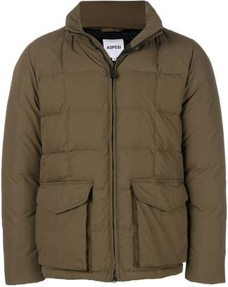 Aspesi square quilted puffer jacket