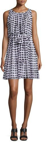 Kate Spade Kate Spade New York Sleeveless Printed Silk Popover Dress
