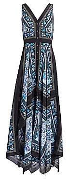 Altuzarra Women's Duel Silk Scarf Maxi Dress