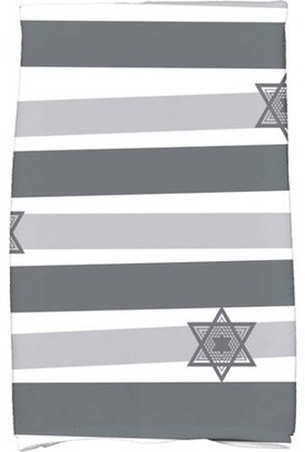 "E By Design Simply Daisy 16"" x 25"" Star Stripes Holiday Stripe Print Kitchen Towel"