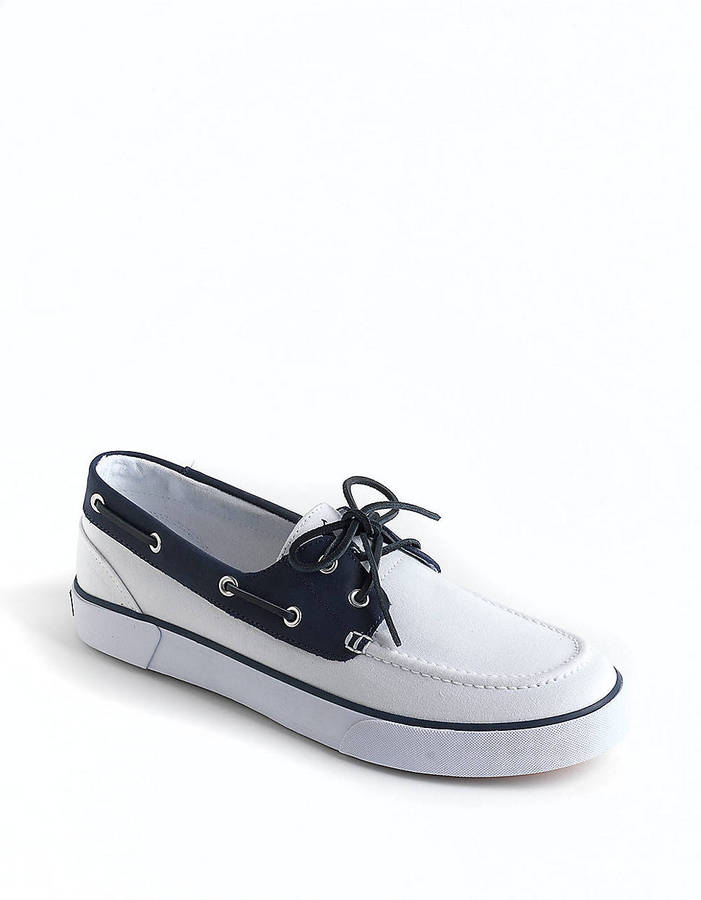Polo Ralph Lauren Rylander Canvas and Leather Boat Shoes
