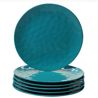 One Kings Lane Set of 6 Wayne Melamine Dinner Plates - Teal