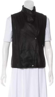 Vince Suede Zip-Up Vest w/ Tags