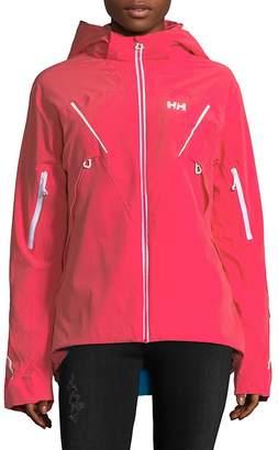 Helly Hansen Women's Hi-Lo Hooded Jacket - Pink Glow, Size x-large