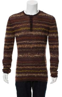 Missoni Fair Isle Henley Sweater