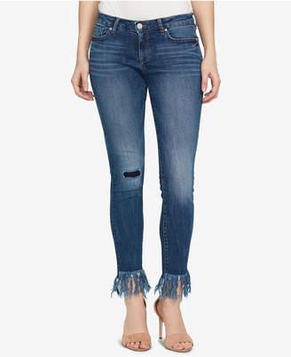 William Rast Perfect Skinny Mid-Rise Frayed Hem Jeans