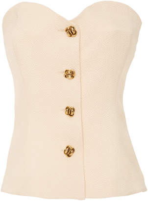 Rebecca de Ravenel M'O Exclusive Button Front Bustier