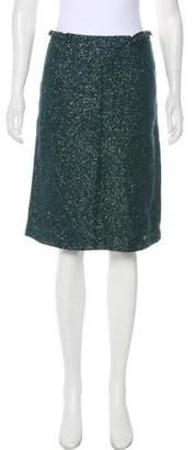 Mayle Metallic Wool Knee-Length Skirt