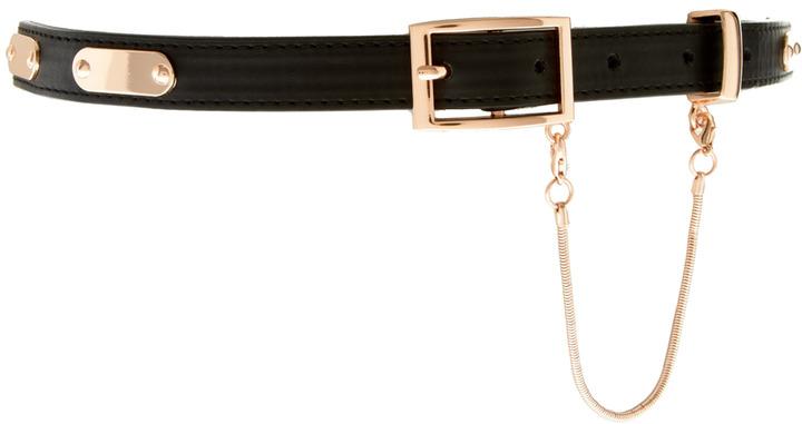 Asos Plate Detail Skinny Waist Belt