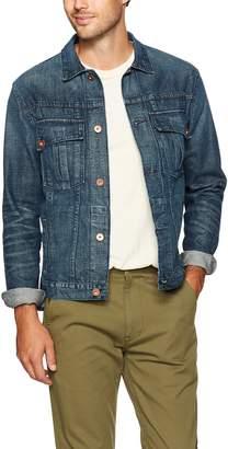 Billy Reid Men's Copper Button Selvedge Denim Clayton Jacket, Washed, S