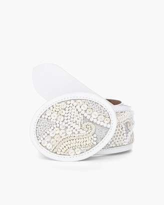 Chico's Chicos Pearlized Beaded Belt
