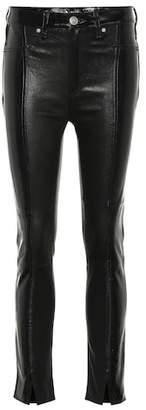 Rag & Bone Evelyn high-rise leather slim jeans
