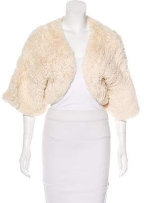 Adrienne Landau Knit Fur Bolero