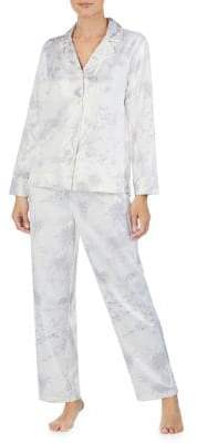 Lauren Ralph Lauren Two-Piece Notch Floral Pajama Set