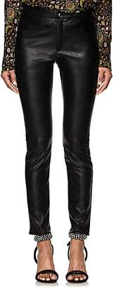 Etoile Isabel Marant Women's Zeffrey Stretchy Faux-Leather Leggings - Black
