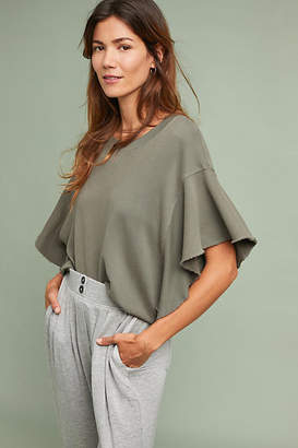 Stateside Ruffled Terry Pullover