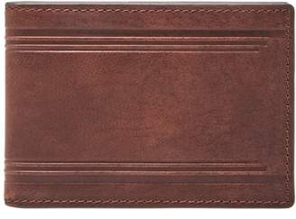 6b70a703fd1f Fossil Harlow Rfid Front Pocket Wallet Wallet Brown