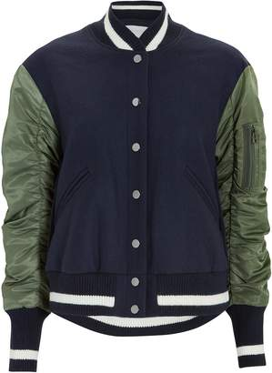 Veronica Beard Joanie Pleated Back Bomber Jacket