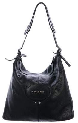 Longchamp Embossed Leather Hobo