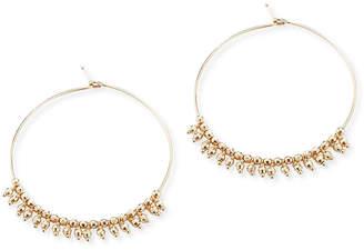 Mizuki 14k Gold Hoop Dangle Earrings