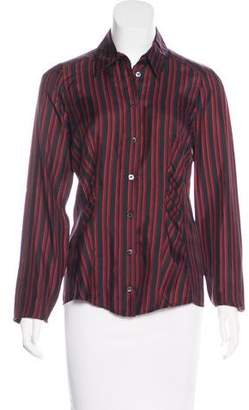 Gucci Striped Button-Up Top