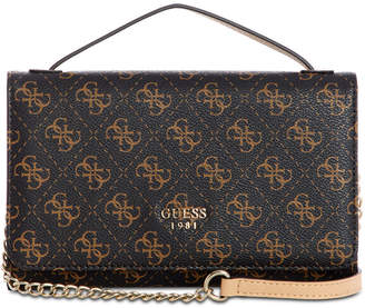 GUESS Kamryn Signature Top Handle Crossbody Wallet 215b2be7a95ee