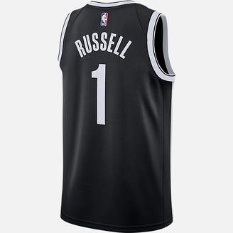 Nike Men's Brooklyn Nets NBA D'Angelo Russell Icon Edition Connected Jersey