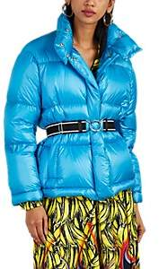 Prada Women's Fox-Fur-Trimmed Down-Quilted Puffer Jacket - Blue