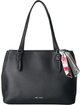 Nine West Deanna Satchel with Scarf Satchel Handbags