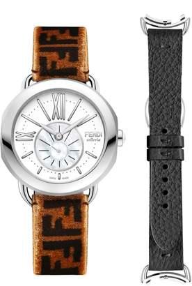 Fendi Selleria Leather Band Watch, 36mm