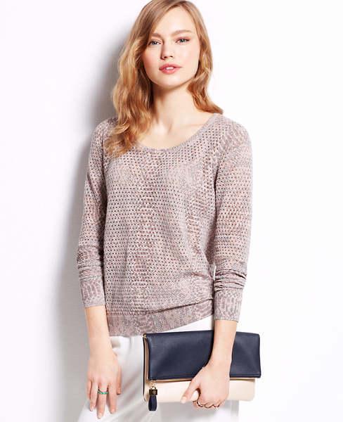 Ann Taylor Tall Python Print Sweater