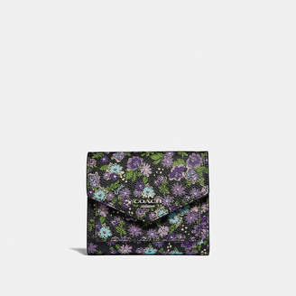 Coach Small Wallet With Posey Cluster Print