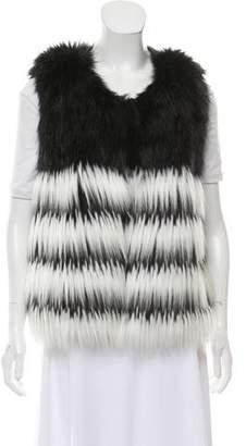 Alberto Makali Faux Fur Vest w/ Tags
