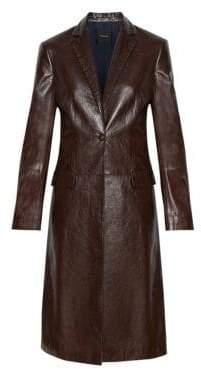 Theory Leather Longline Jacket