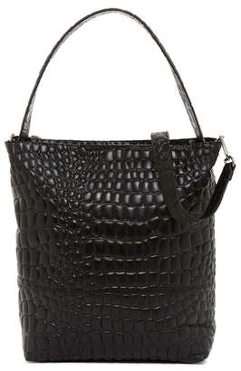 Liebeskind Berlin Croco Embossed Leather Collection Tribeca Hobo Bag