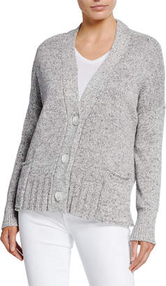 8bfe354131 Neiman Marcus Elbow-Patch Rolled-Hem Cardigan