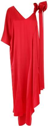 Valentino Long Hammered Satin Dress