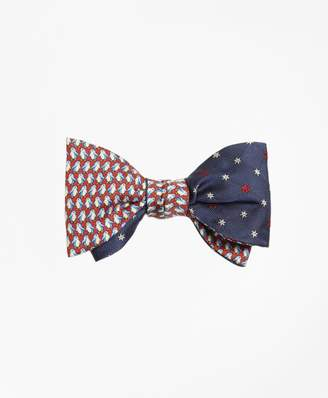 Brooks Brothers Penguin with Snowflake Reversible Bow Tie