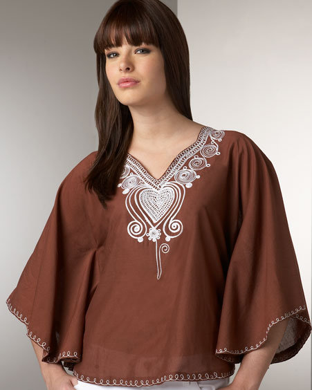 Miguelina Alison Embroidered Caftan