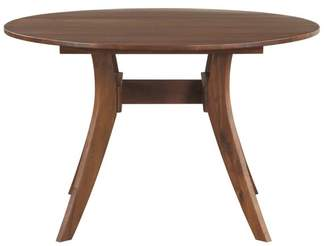 Moe's Home Collection Florence Round Dining Table, Walnut